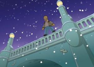 Il saute d'un pont pour se suicider mais atterrit sur la glace